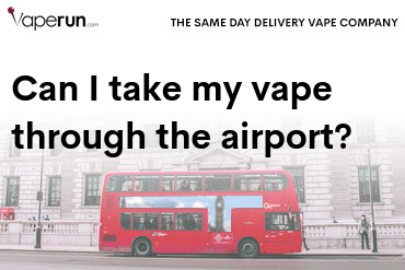 can i take my vape through the airport
