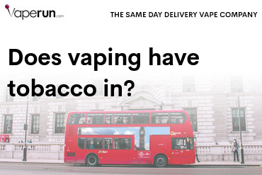 does vaping have tobacco in