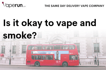 is it okay to vape and smoke
