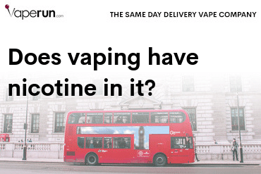does vaping have nicotine in it
