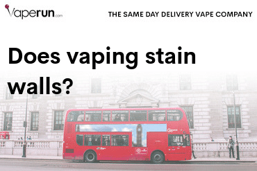 does vaping stain walls